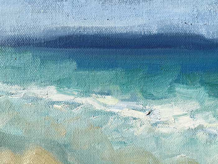 Seascape Painting Tutorial - Close-Up 1