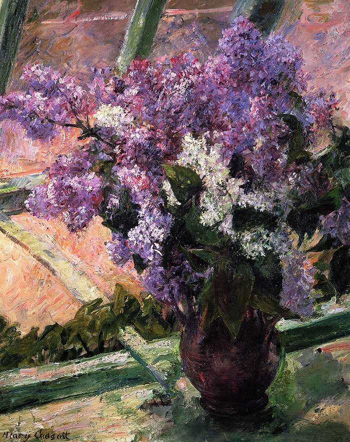 Mary Cassatt, Lilacs In A Window, 1880