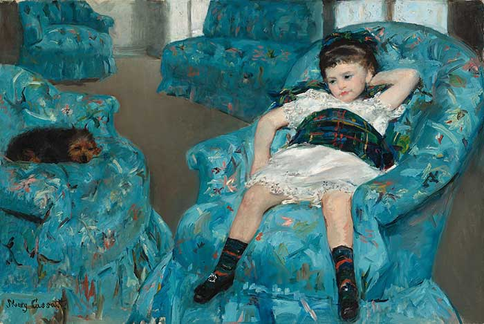 Mary Cassatt, Little Girl In A Blue Armchair, 1878