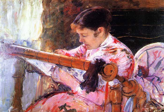 Mary Cassatt, Lydia At The Tapestry Loom, 1881