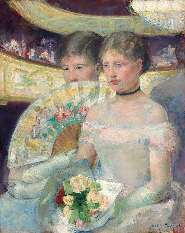 Mary Cassatt, The Loge, 1880