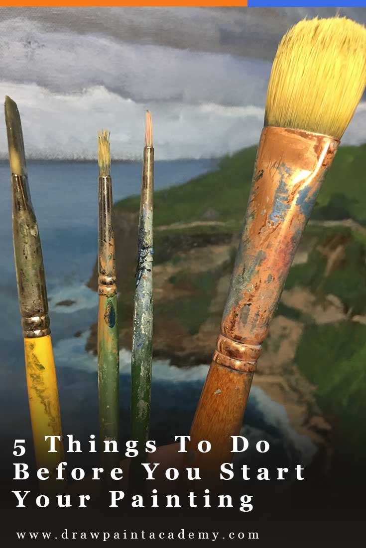 5 Things To Do Before You Start Your Painting | Oil Painting For Beginners #art #painting #drawpaintacademy