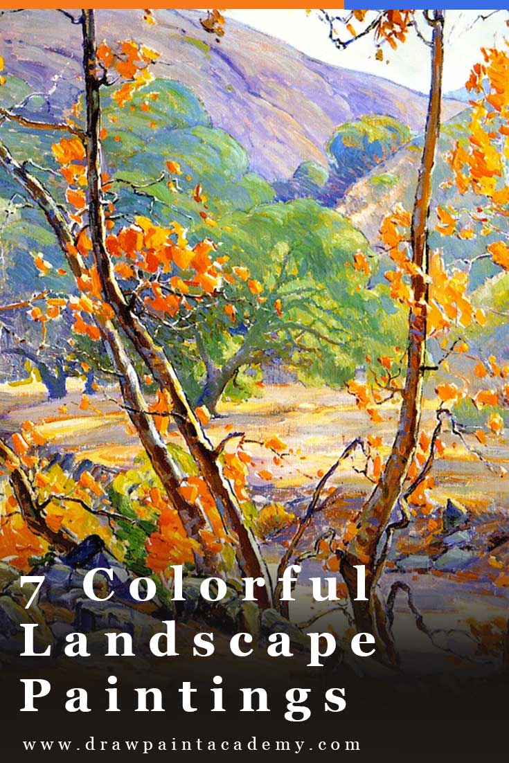 7 Colorful Landscape Paintings To Spark Your Inspiration | Landscape painting ideas | Landscape painting for beginners | Landscape paintings oil