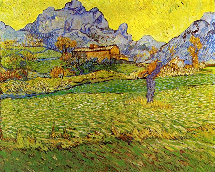 Vincent van Gogh, A Meadow In The Mountains, 1889