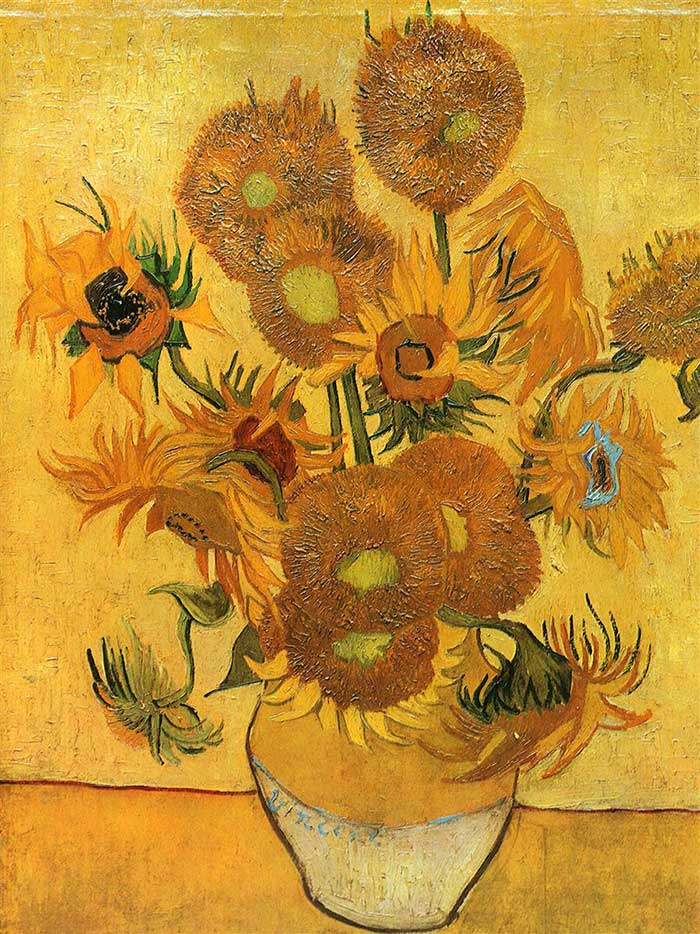 Vincent van Gogh, Still Life - Vase With Fifteen Sunflowers, 1888