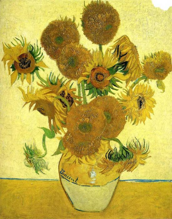 Vincent van Gogh, Still Life - Vase With Fifteen Sunflowers 2, 1888