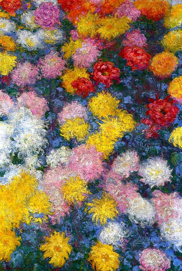 Claude Monet, Chrysanthemums, 1897