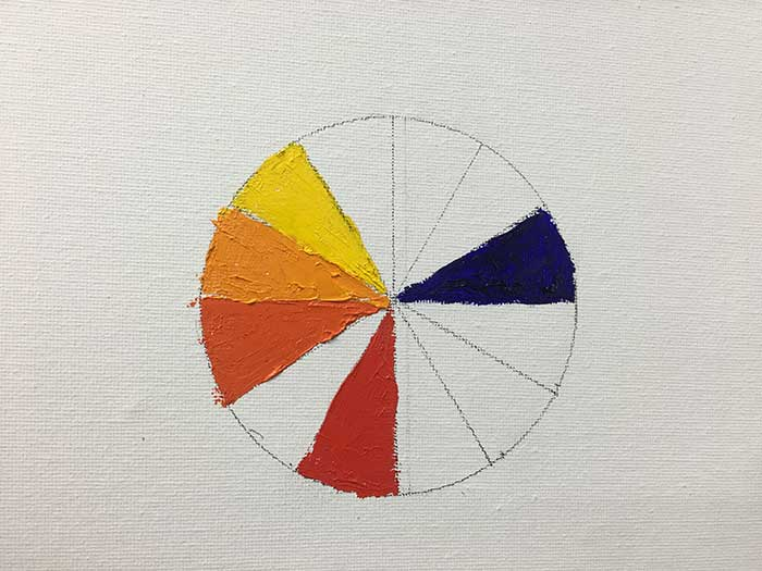 Color Wheel Progress - Primary, Secondary, Tertiary