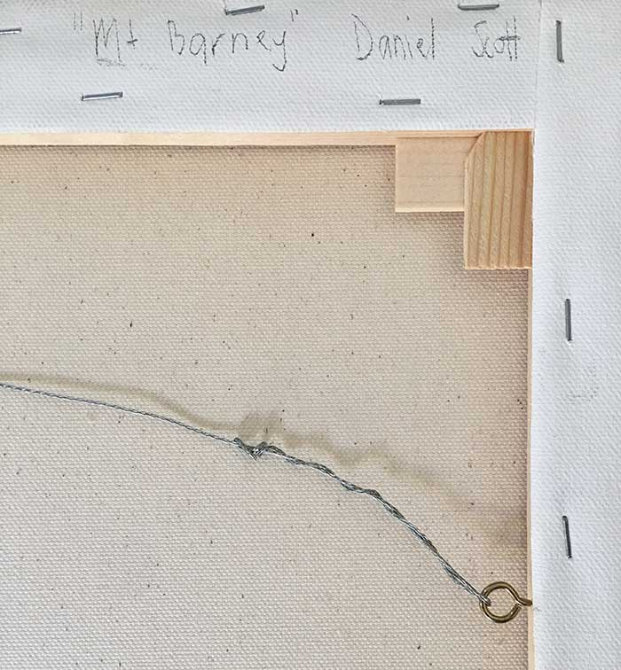 How To Safely Package Your Painting - Sign And Wire The Back Ready To Hang
