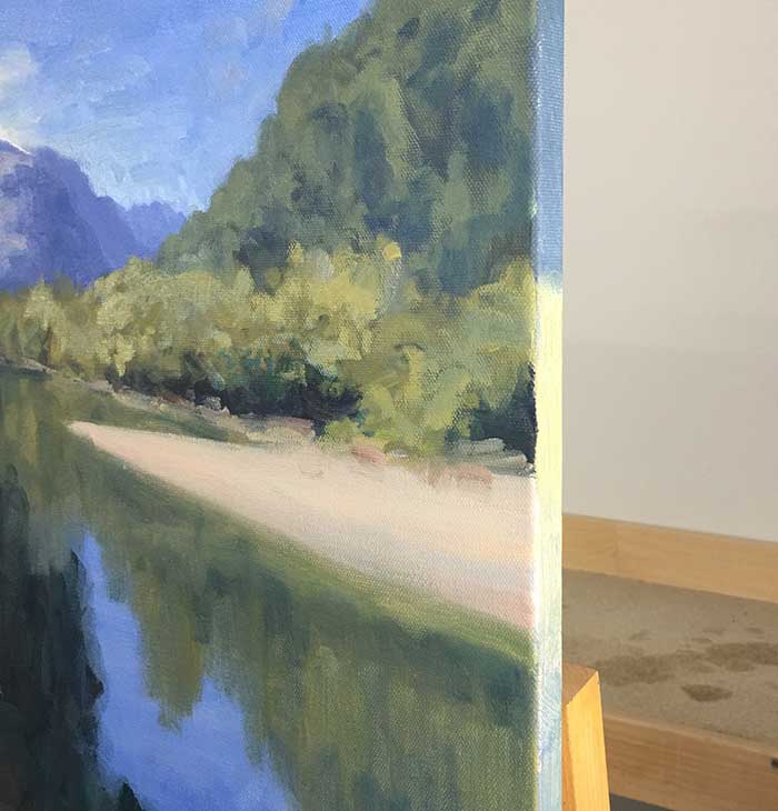 Painting Tutorial - New Zealand River - Paint The Edges