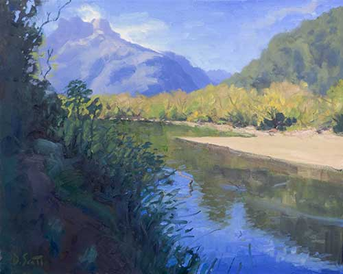 How To Paint This New Zealand River Landscape