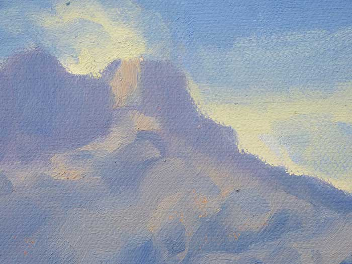 Painting Tutorial - New Zealand River - Close Up Mountains