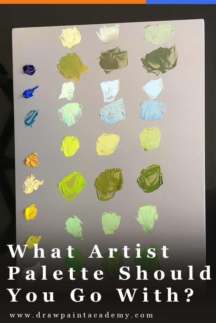 Artist Palettes - What Artist Palette Is Right For You? The artist palette is an essential piece of equipment for holding and mixing your paint. In this post I will run through some of the different options so that you can decide on the perfect artist palette for you.
