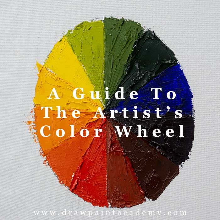 A Guide To The Artist\'s Color Wheel For Beginners | Color Mixing And Theory | Color Wheel Lesson | Color Wheel Art #drawpaintacademy