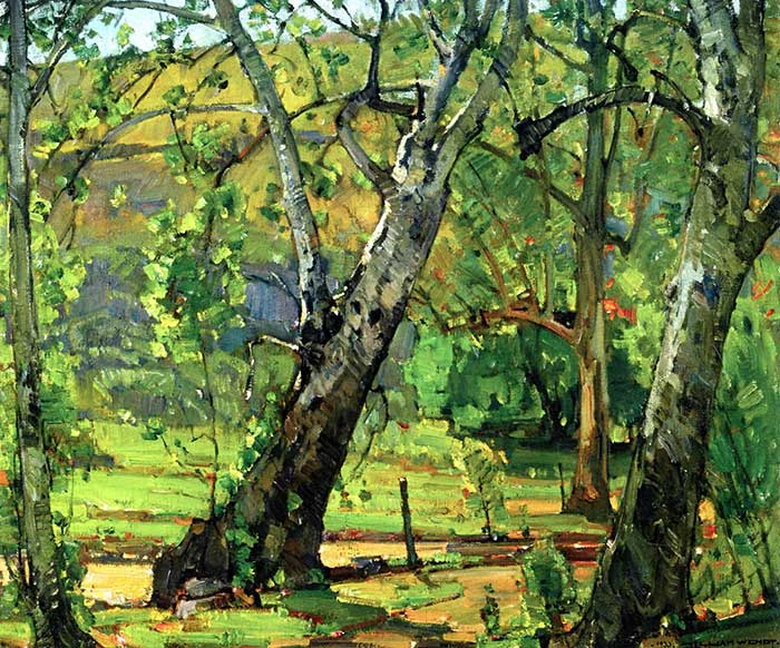 William Wendt, A Grove of Trees, 1933