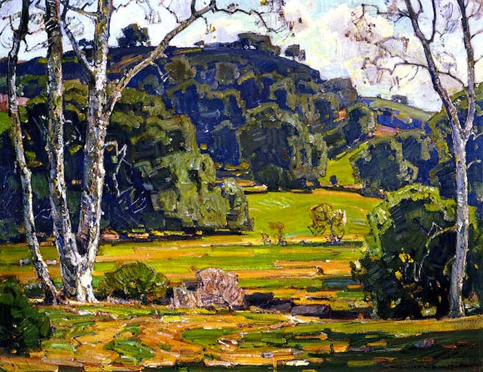 William Wendt, Beloved Oaks and Sycamores, 1927
