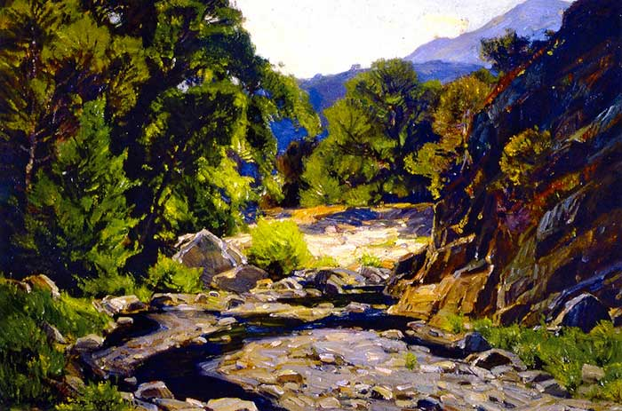 William Wendt, California Stream, 1919