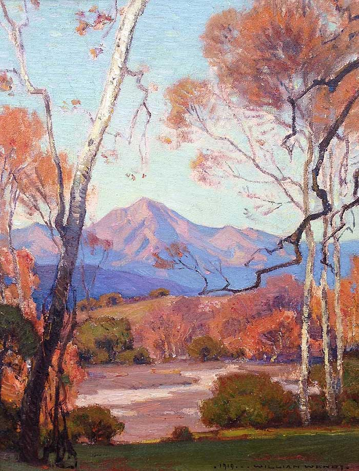 William Wendt, Saddleback Mountain, 1919