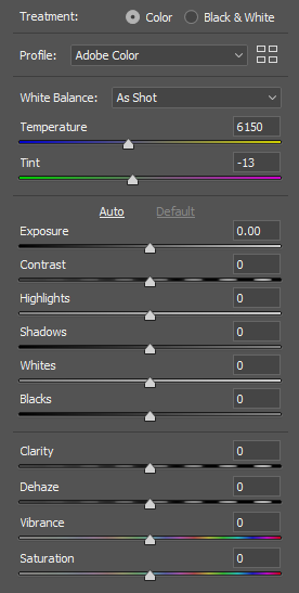 How To Take Photos Of Your Art - Photoshop Raw Settings