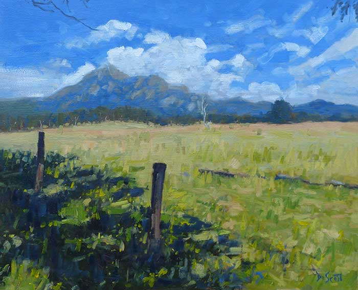 Mt Barney, 20x24 Inches, 2017