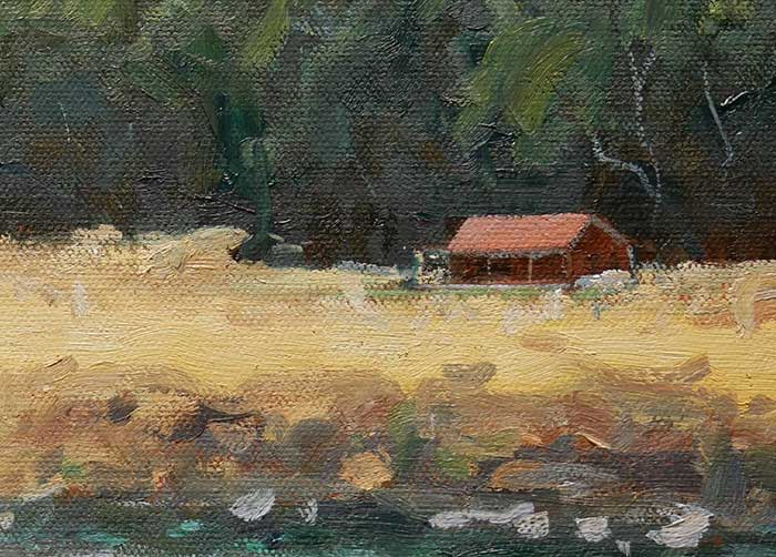 Landscape Painting Tutorial - Close Up Red House