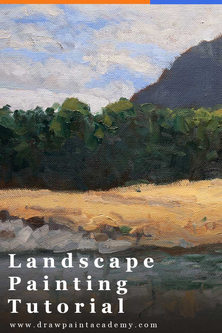 Landscape Painting Tutorial - New Zealand With Red House. This painting tutorial is perfect for beginner to intermediate painters. It was done using oil paint on canvas. Feel free to follow along with your own painting.