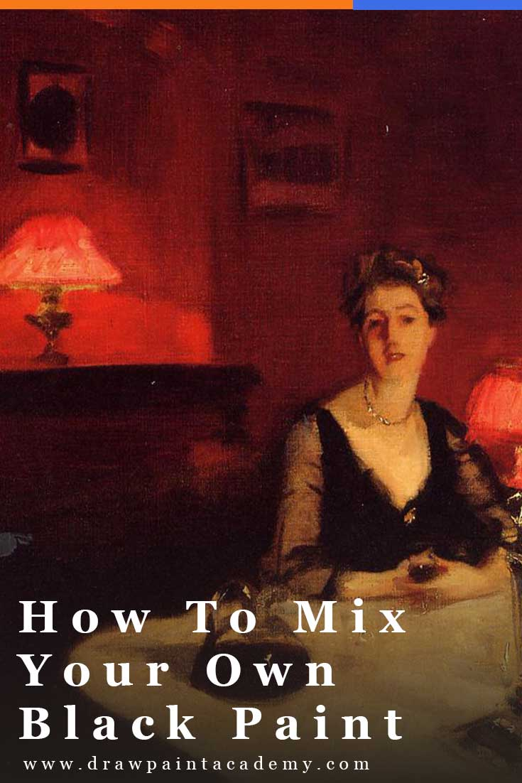 How To Mix Your Own Black Paint. Black is a very polarizing color in the art world. Some people swear by using black, and others swear by avoid it all together. In this post I hope to clear up some of the confusion surrounding black. #drawpaintacademy