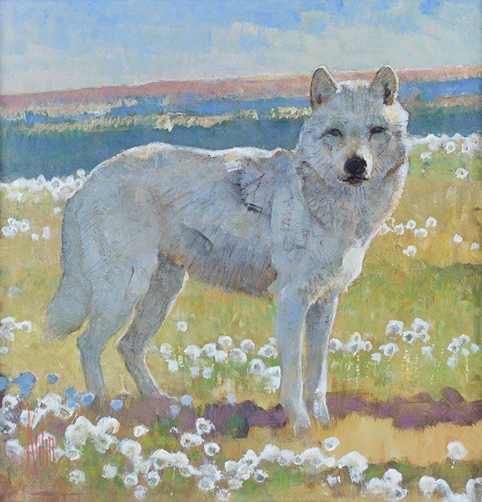 Bob Kuhn, In Ellesmere Land - Arctic Wolf, 1996