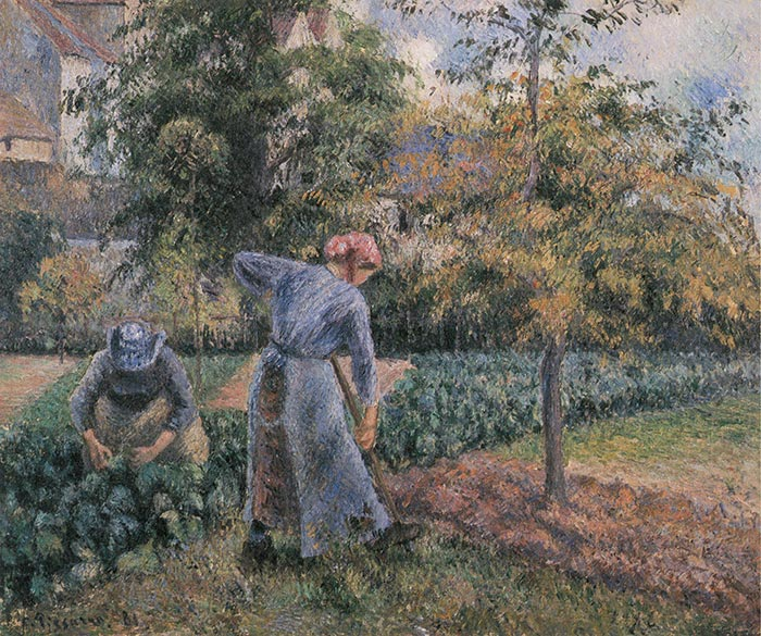 Camille Pissarro, Peasant Woman Digging, the Jardin de Maubuisson, Pontoise, 1881