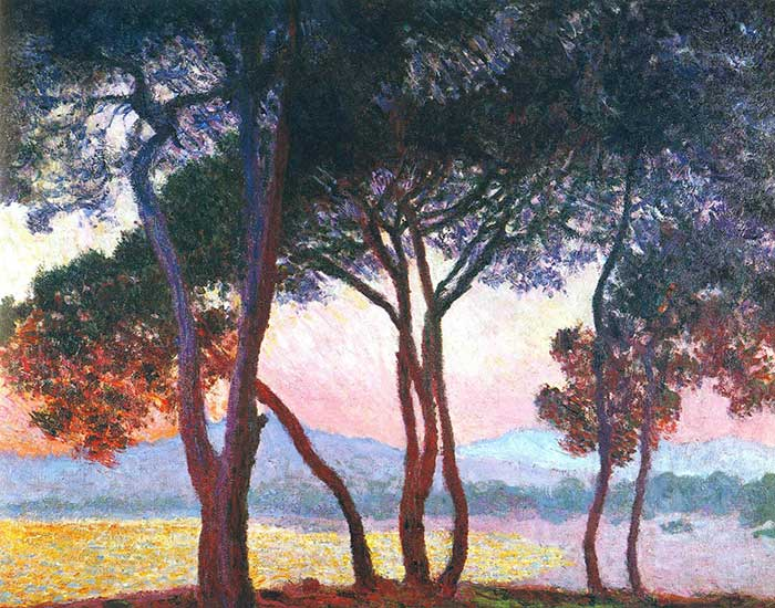 Princples Of Art - Contrast, Claude Monet, Juan-Les-Pins, 1888