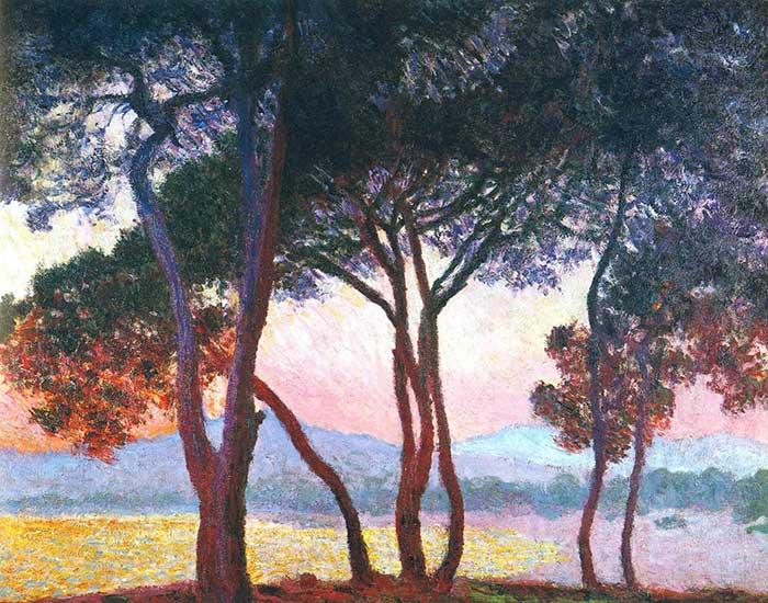 Princples Of Art - Contrast, Claude Monet, Juan-Les-Pins, 1888