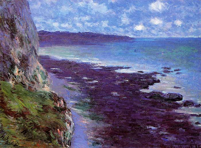 Claude Monet, The Cliff Near Dieppe, 1882