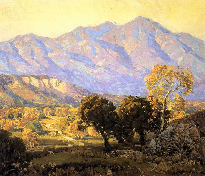 Analyzing Colors - Edgar Payne, Canyon Mission Viejo, Capistrano