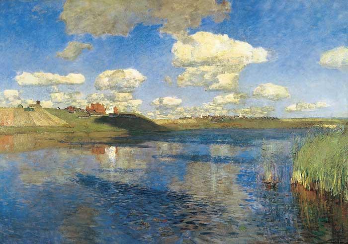 Isaac Levitan, Lake, Russia, 1900