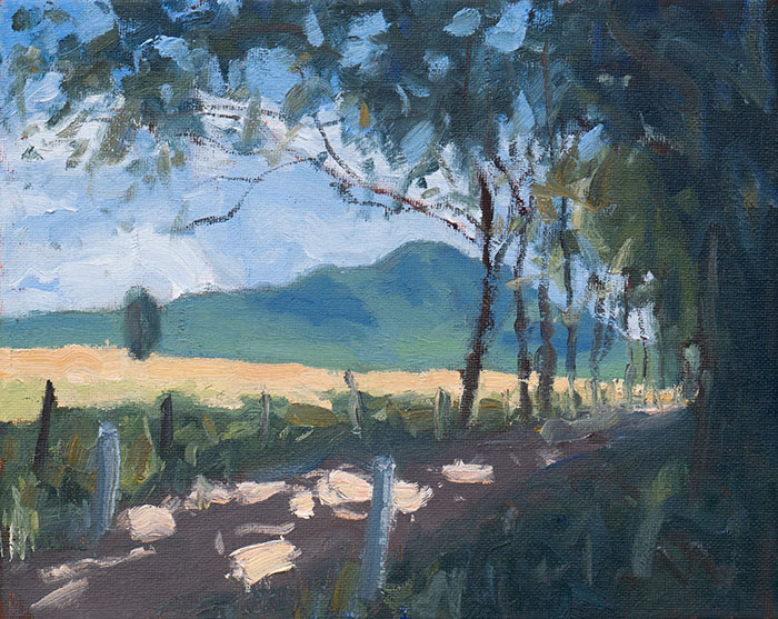 Mt Barney Study, Oil, 10x12 Inches, Oct 2018