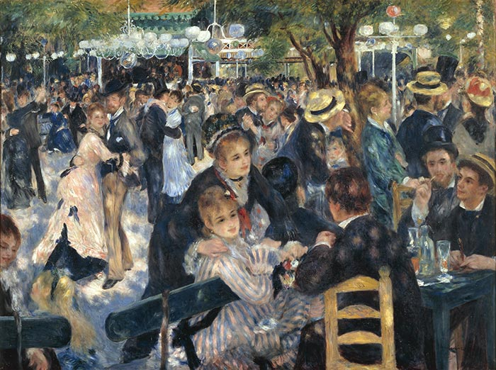 Pierre-Auguste Renoir, Dance at Le moulin de la Galette, 1876