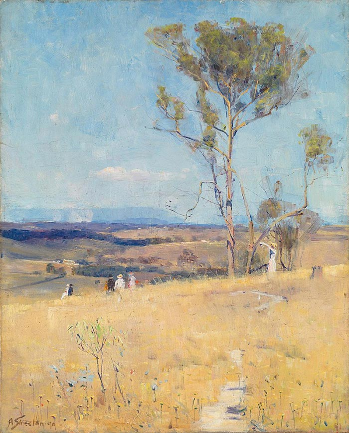 How To Use Brushwork Effectively - Sir Arthur Streeton, Near Heidelberg, 1890