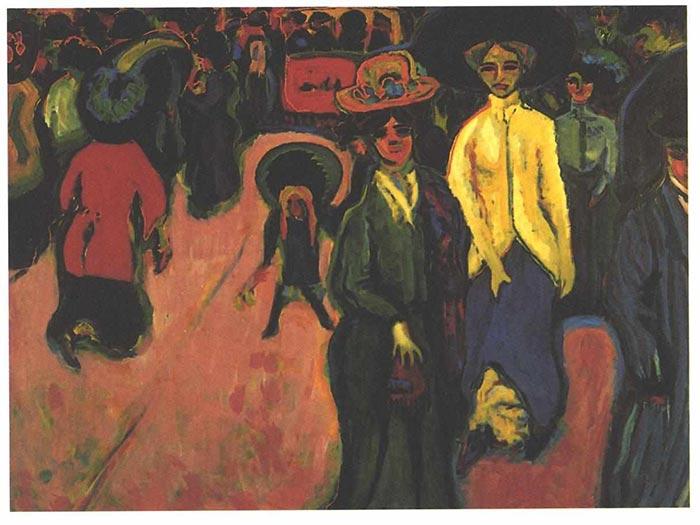 Ernst Ludwig Kirchner, Street, 1908