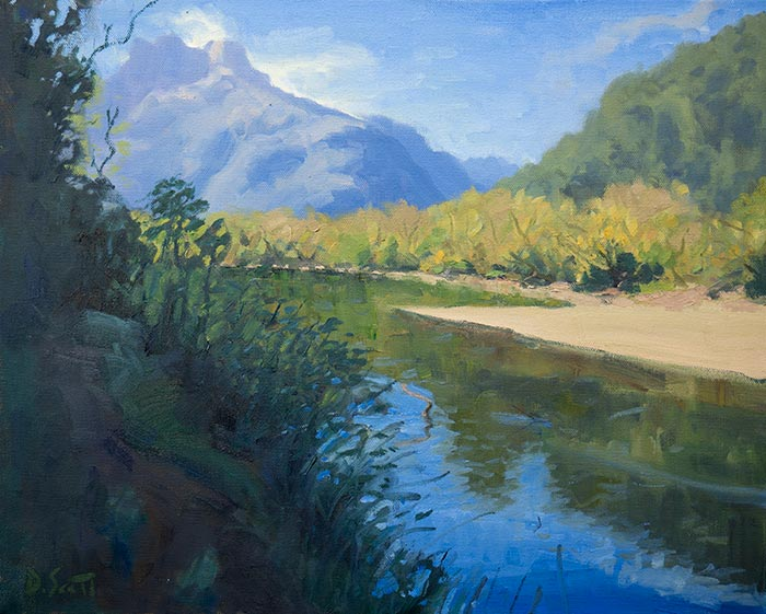 Dan Scott, New Zealand, Oil, 16x20 Inches