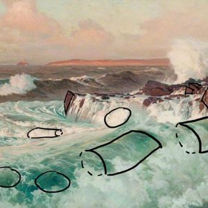Frederick Judd Waugh, Seascape, Boxes, Cylinders and Spheres