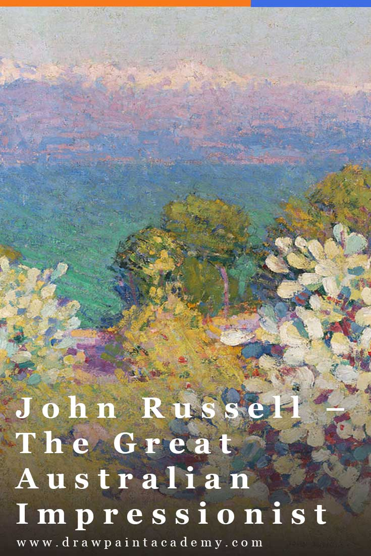 John Russell – The Great Australian Impressionist. I watched a fascinating documentary the other day about an Australian Impressionist artist named John Russell. This was my first time hearing about this artist, despite him being a fellow Australian and also being connected with artists like Claude Monet and Vincent van Gogh. In this article I summarize some of the key points about his life and art. #drawpaintacademy #impressionism #art