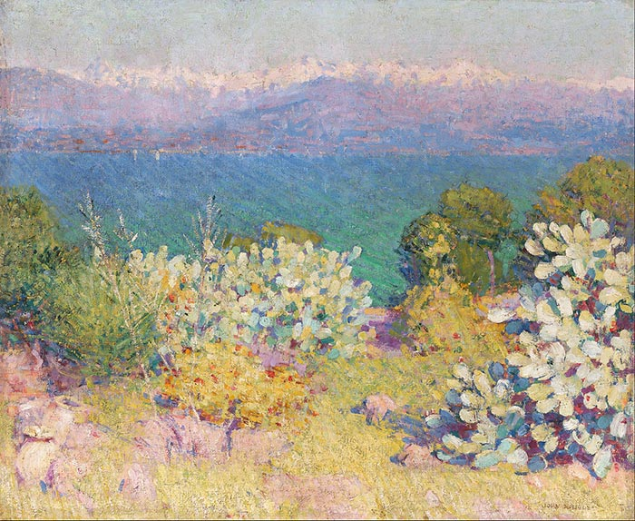 John Russell, In the Morning, Alpes Maritimes from Antibes, 1891