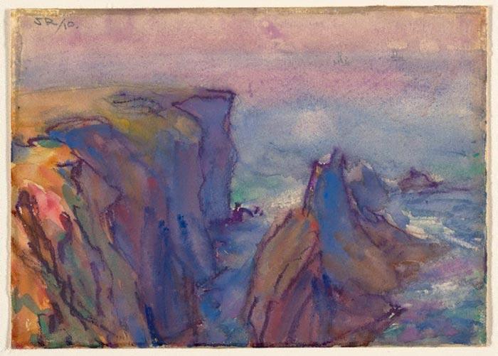 John Russell, Les Aiguilles, Belle Ile, 1910