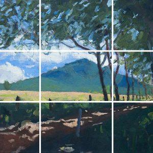 Mount Barney, Queensland, Australia - Grid On Painting