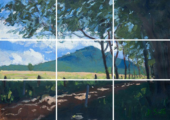 Mount Barney, Queensland, Australia - Grid On Painting