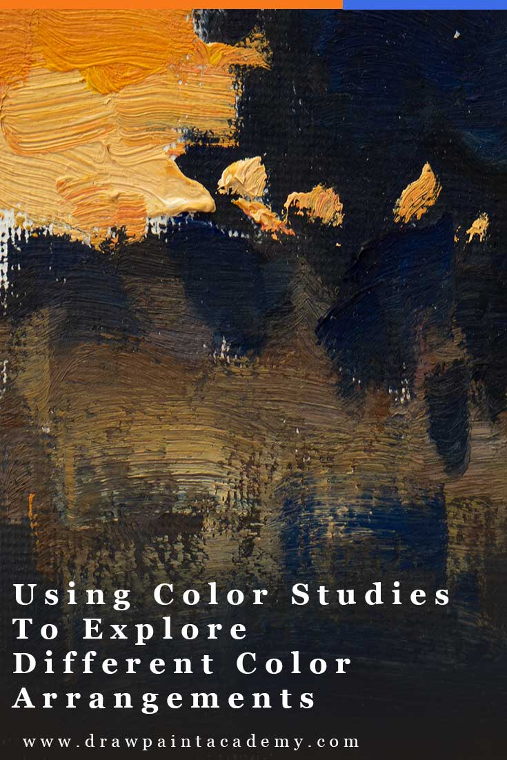 Color Studies - Using Color Studies To Explore Different Color Arrangements. Color studies are perfect for exploring different arrangements of color without having to worry about other aspects of painting like accuracy and composition. In this post I will walk you through how to go about doing color studies and what you can learn from them. #color #drawpaintacademy
