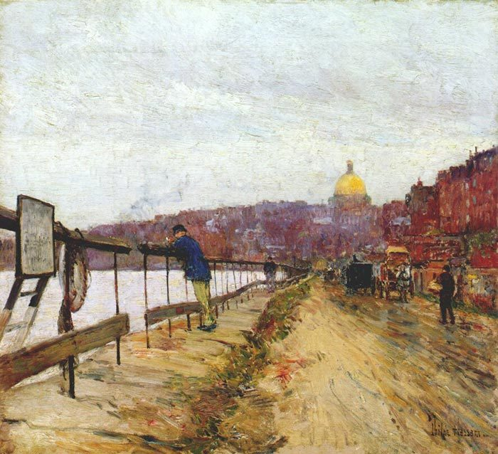 Childe Hassam, The Charles River and Beacon Hills, 1892