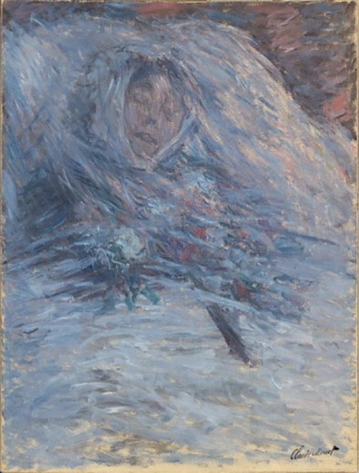 Claude Monet, Camille on Her Deathbed, 1879