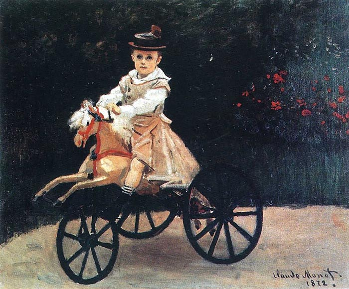 Claude Monet, Jean Monet on a Horse, 1872