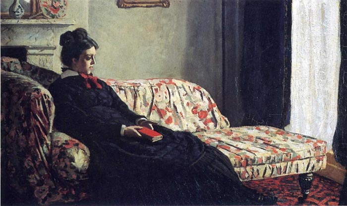 Claude Monet, Reflection, Madame Monet on the Sofa, 1871